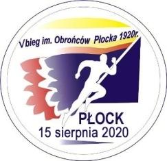 Międzynarodowy V Bieg Uliczny Obrońców Płocka 1920 roku - logo